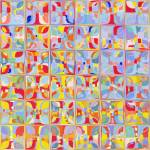 """Summer Pastel Tiles. Modern Mosaic Tile Art Painti"" by MarkLawrence"