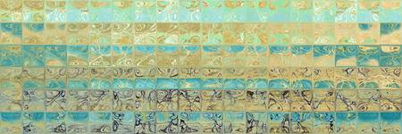Abstract Aqua Beach Tiles Panoramic Painting