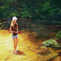 Rayn Wading Art Prints & Posters by Everett Cooper