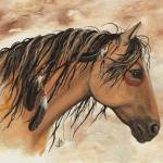 """""""Buckskin Pinto Majestic Horse"""" by AmyLynBihrle"""
