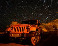 Star Trails Jeep