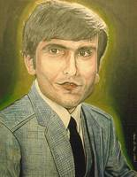 Self Portrait From 1980s, Oil on Canvas