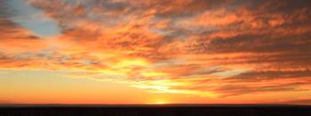 Mohave Sunset Sky Panorama