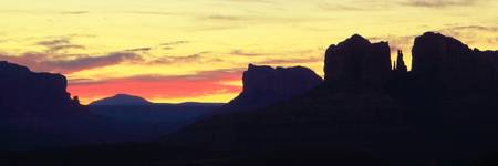 Sedona Arizona Dawn Panorama