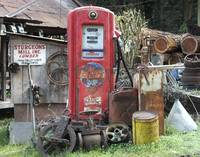 Old Chevron Gas Pump