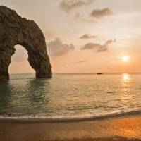 Sunset at Durdle Door Art Prints & Posters by Ian Middleton