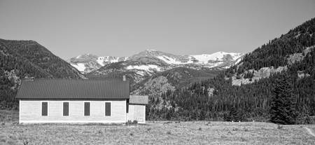 Rocky Mountain School House Panorama