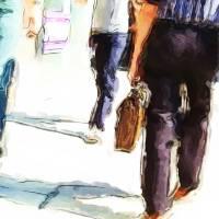 City Strides Art Prints & Posters by Karol Livote
