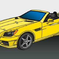 Mercedes Benz Convertable Art Prints & Posters by Shelly Allen Art