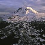 """Frozen Volcano - Mount Adams at sunset"" by JohnChaoPhoto"
