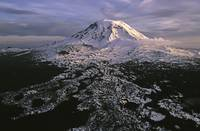Frozen Volcano - Mount Adams at sunset