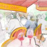 """Cafe Bords de Seine"" by KayArtiste"