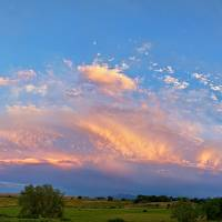 Storm Front Sunset Moon Longmont to Boulder CO Pan Art Prints & Posters by James