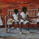 """Bus Stop      Larry ""Kip"" Hayes   Folk Art"" by kiphayes"