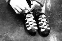 Irish Dancer Tying Ghillies