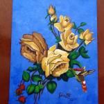 """""""ROSAS DORADAS Y COLIBRI"""" by ROFFEART"""