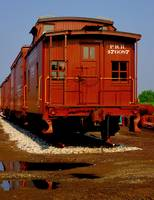 Red Caboose Reflection