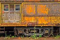 Old Yellow Railcar