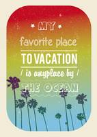 Vacation quote print