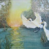 Great Egrets Art Prints & Posters by Joan  L. Mester