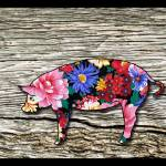 """Floral Pig"" by AppleCoreStudio"