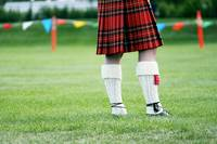 Scottish Kilt In Field