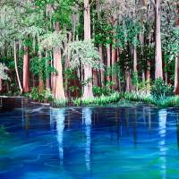 Ichetucknee springs FL. Art Prints & Posters by KARIN DAWN BEST