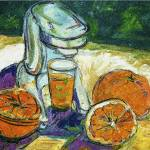 """Orange Juice Oil Painting"" by GinetteCallaway"