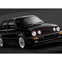 C:\fakepath\VW Golf GTI Art Prints & Posters by Russell Wallis