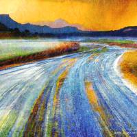 icy open road Art Prints & Posters by r christopher vest