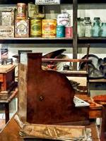 Wooden Cash Register in General Store