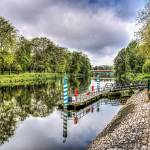 """Water Bus Stop River Taff Cardiff"" by StevePurnell"