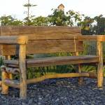 """Rustic Bench at Sunset F2743"" by ClotheslineArt"