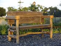 Rustic Bench at Sunset F2743