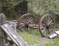 Weathered Wagon Wheels