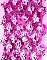 Abstract pink floral delight