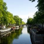 """House Boats on Amsterdam Canal"" by ValeriesGallery"