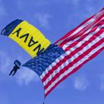 """Navy Seal Leap Frogs US Flag H"" by DonnaCorless"