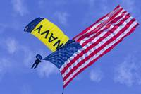 Navy Seal Leap Frogs US Flag H