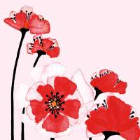 """Expressive Wild Red and Pink Poppy Field wd"" by Ricardos Creations"