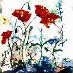 """Abstract Poppies Provence"" by GinetteCallaway"