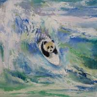 """Panda Surfer"" by Michael Creese"