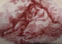 Lovers under the tree vintage sepia