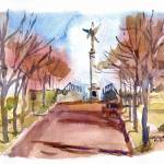 """lovejoymonument01152012"" by michaelandersonartprints"