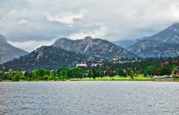Stanley Hotel from Lake Estes