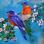 """""""Thomas Dillon Blue Birds"""" by thomasdillon"""