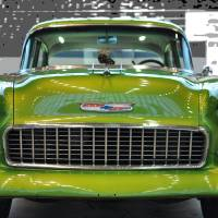 '55 Chevy BelAir Show Car Lime Green Art Prints & Posters by Paulette Wright