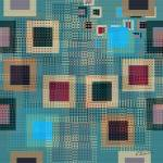 """Teal Boxes II"" by RuthPalmer"