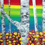 """Rainbow Forest"" by ArtPrints"