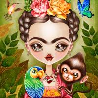 Frida Querida Art Prints & Posters by SANDRA VARGAS